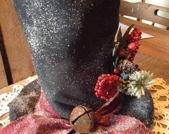 Primitive Grungy Christmas snowman table topper pattern