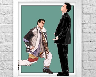 Joey and Chandler- Friends TV print