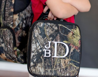 Woods Lunch Bag-includes Monogram-Camo Insulated Lunch Bag-Insulated Cooler-Lunch Box