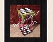 Reserved for Linda, custom painted OVAL table