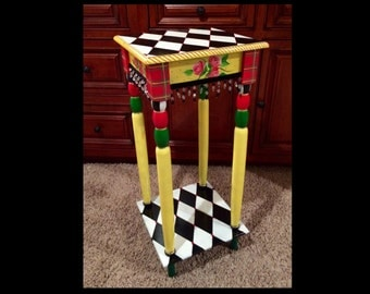 alice in wonderland furniture. whimsical painted furniture table alice in wonderland n