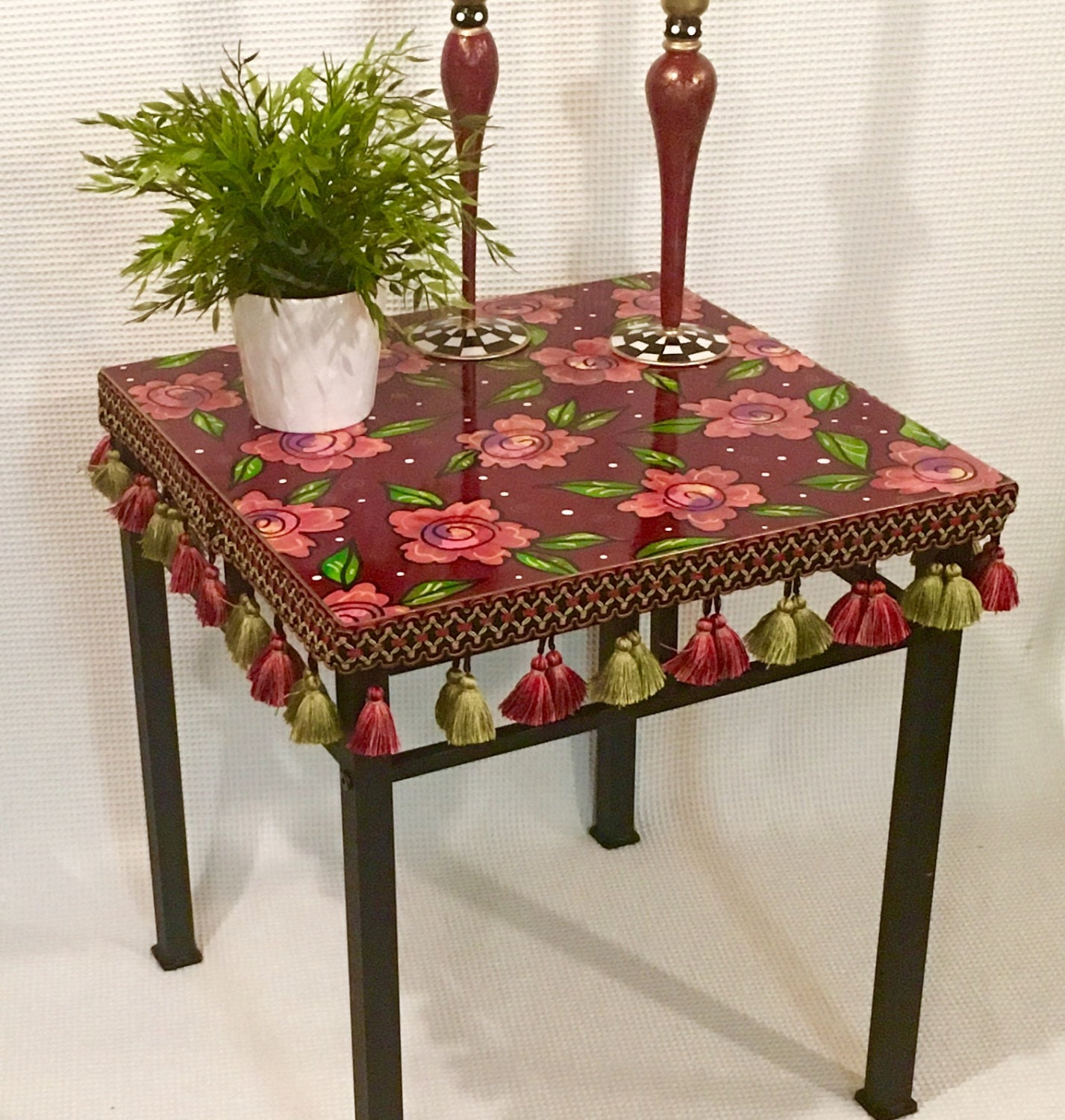 whimsical painted furniture painted table painted accent