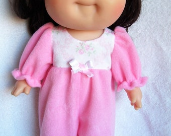 Baby Doll Clothes,One Piece Pajama,fits 12inch to 14inch Dolls,Waldorf,Berenguer,Baby Born,Corolle