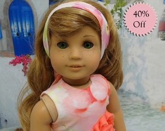 Watercolor Bouquet - sleeveless dress for American Girl doll **Sale**