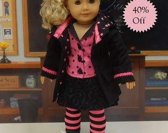 Hot Stuff - Skirt Set with Jacket for American Girl **Sale**