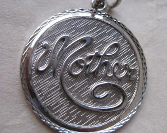 Mother Sterling Charm Silver Vintage 925