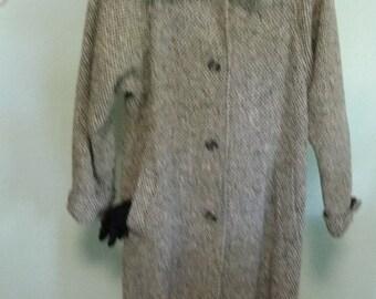 Retro wool tweed coat size L-XL J Gallery brand