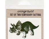 Tricertops Temporary Tattoos -- Set of Two