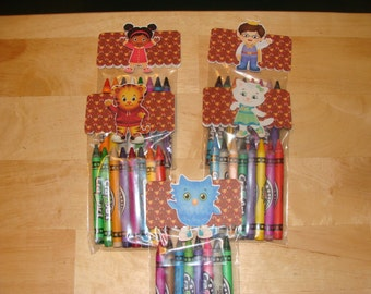 Daniel Tiger Made To Order Crayon Favor Bags