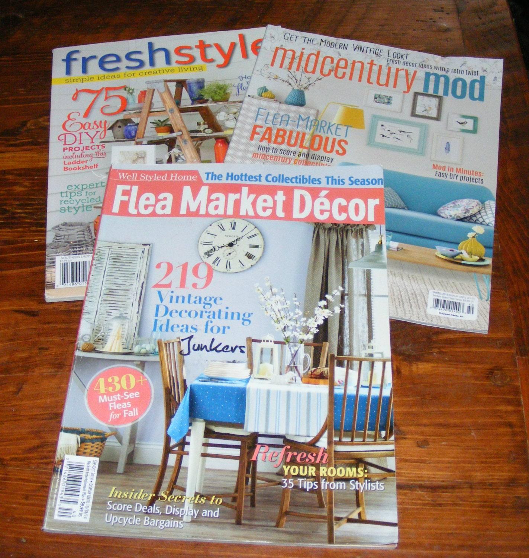 Flea market decor october 2014 midcentury mod spring 2015 for Flea market home decor