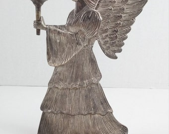 Vintage silver color candle holder angel wing angel candleholder