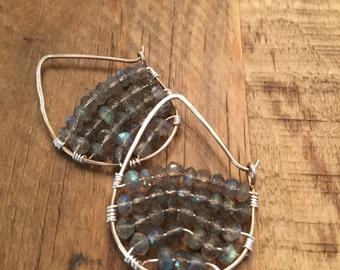 Labradorite Wire Weaved Earrings