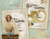 Victorian Wedding 4x5 Inch Decoupage Paper, Digital Collage Sheet, Home Decor Printable, Wall Art, Craft Paper, Scrapbooking, Calico Collage