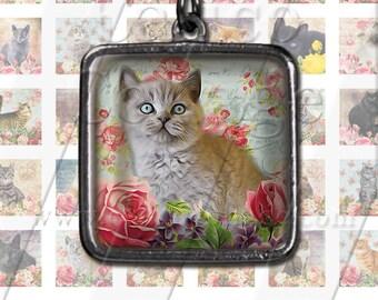 Kitten Collage Sheet Inchies Printable