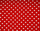 "Red white 1/4"" dots KNIT"