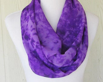 Infinity Scarf, Bright Purple Scarf, Women's Chiffon Scarf,  Circle Scarf, Loop Scarf, Women's Scarves, Eclectasie