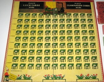 Vintage (1939) Go to the Head of the Class Gameboard  for Play or Display
