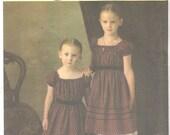 Simplicity 4739 Girls Civil War GROWTH DRESS Petticoat Pantaloons Bag Pattern Historic Sewing Pattern Size 3 4 5 6 7 8 Breast  22 - 27 UNCUT