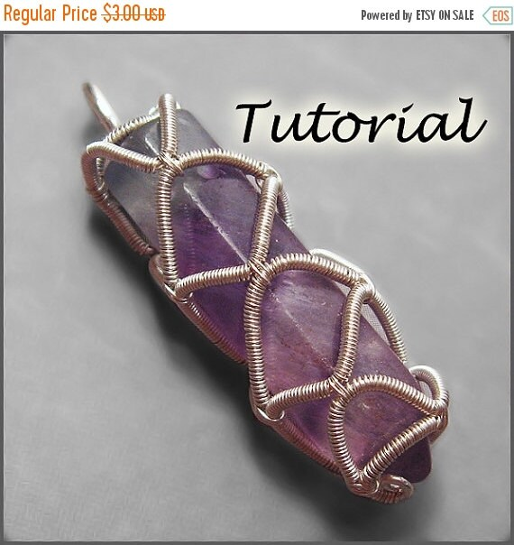 Summer Sale - 10% off - Prison of Enchantment - Wire Wrap Technique for Un-drilled Gemstone Points Wire Wrapping Tutorial