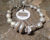 Gorgeous Freshwater Pearl and Silver Bracelet