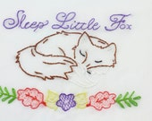 Fox Embroidery Design Fox Hand Embroidery Pattern