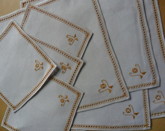 Vintage Linen Placemats and Coasters