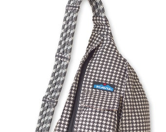 Monogrammed Kavu Rope Bags - Houndstooth - Great gift for College, Teens, Women, Outdoors Satchel Crossbody Tote