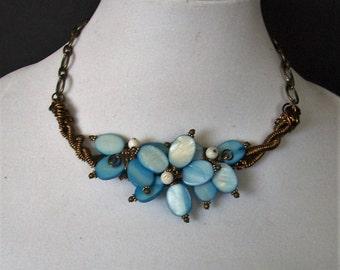 Flower Jewelry for Wife, Wife Flower Jewelry, Wife Statement Jewelry, Girlfriend Jewelry Idea, Statement Necklace for Wife, Mom Jewelry Gift