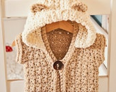 Crochet PATTERN - Super Bulky Hooded Vest  (sizes baby up to 12 years), Instant download