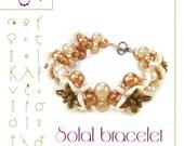 beading pattern  Bracelet tutorial / pattern Solal bracelet  ..PDF instruction for personal use only