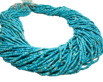 Turquoise Beads, Heishi Beads, Turquoise Heishi, Blue Turquoise Beads, 1.5mm, SKU 3358A