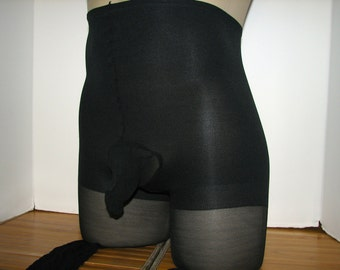 Queen Size Plus Leggs Sheer Vitality Sissy Pantyhose with a Sexy Closed Comfort Sleeve  Queen Size Plus Size Queen Fits to 240lbs