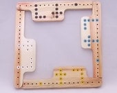Pegs and Jokers Board Game - Starter Set for  Four  Players Flame Elder Wood - Colored Start Home