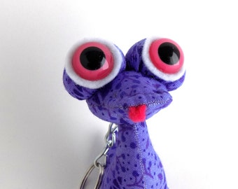 Cute Keychain, Alien Keychain, Monster Keychain, Easter Basket Stuffer for Girls, Zipper Pull by Adopt an Alien named Mazy