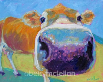 Cow - Cow Art - Cow Print - Paper - Canvas - Wood Block