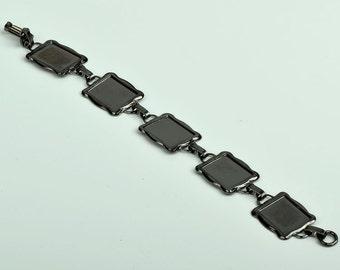 Link Metal Bezel bracelet , 7 inches OEB02