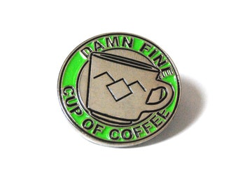 Damn Fine Coffee Enamel Lapel Pin