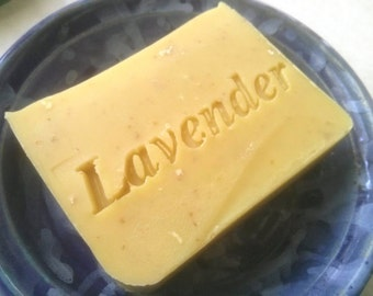 Lavender Oatmeal Soap - Gentle soap - Handmade Soap - Cold process soap - Vegan Soap - plastic free - sls free - palm oil free