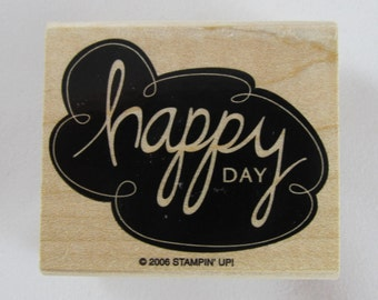 Stampin Up! - Happy Day Rubber Stamp #RS121