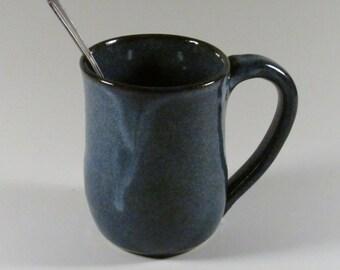 Handmade Ceramic Mug - Pottery Coffee Mug - Denim Blue - Wheel Thrown Mug -  Stoneware Mug - Ceramic Tea Mug