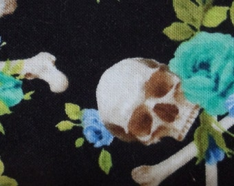 Charmed Skulls and Blue Roses Greyhound, Whippet, Galgo, Pit Bull, Dog, Sighthound Martingale Collar