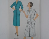 Vintage 50s V Neckline Shirtwaist Dress Pattern New York 1241 Size 18 Bust 36 UNCUT