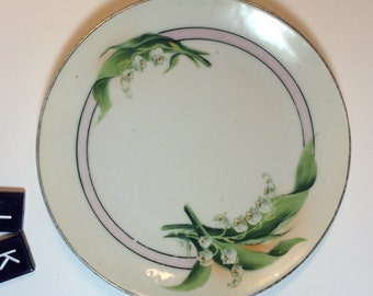 Vintage Lilly of the Valley Rudlstadt Plate