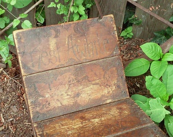 Rest A While / Antique Small Childs Handmade Chair