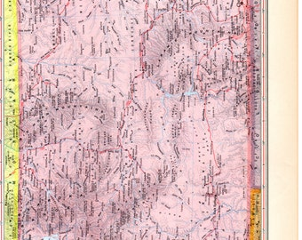WYOMING  Map HAWAII  - 1957 World Atlas Book Page 10-1/2 x 14-1/2