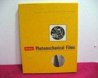 NOS Kodak Photomechanical Films, Vintage 8 x 10 Ortho Type 3 Film Sheets Sealed in Box ca: 1969