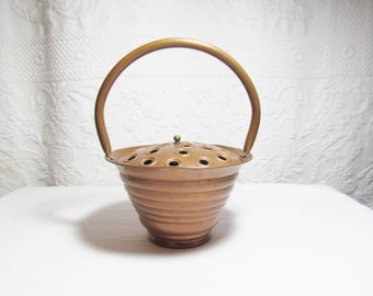 French Copper Basket Garden Flower Planter