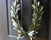 Year-round Green Laurel Bay Leaf Crest Wreath Peace Victory Everyday Wedding Olympic Faux Artificial