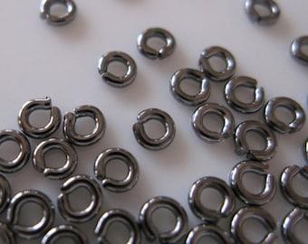 CLOSING SALE 50% OFF Gunmetal Jump Ring  3mm  20 gauge - 100 pieces  (St359)