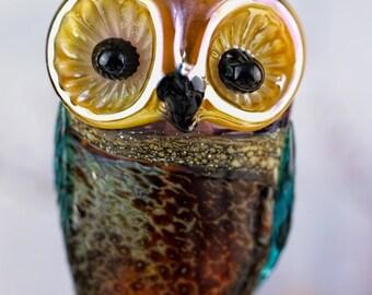 Jewel....... lampwork owl bead........ sra